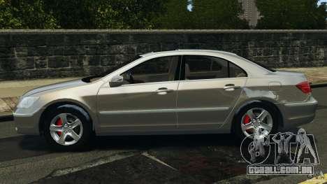 Honda Acura RL para GTA 4 esquerda vista
