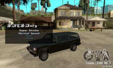 ELM v9 for GTA SA (Emergency Light Mod) para GTA San Andreas terceira tela