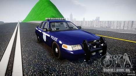 Ford Crown Victoria Homeland Security [ELS] para GTA 4 vista de volta