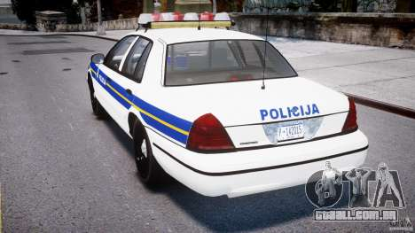 Ford Crown Victoria Croatian Police Unit para GTA 4 vista direita