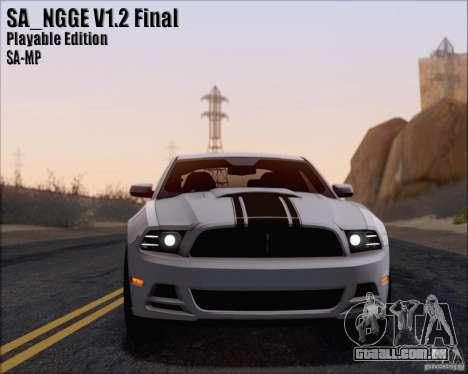 SA_NGGE ENBSeries v. 1.2 versão jogável para GTA San Andreas