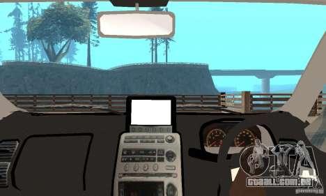 Nissan Skyline 350GT 2003 para GTA San Andreas vista traseira