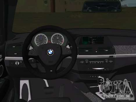 BMW X6M para GTA Vice City vista superior