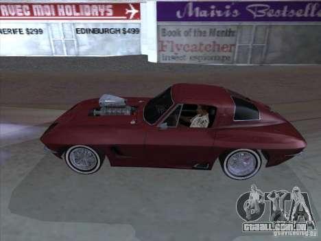 Chevrolet Corvette Big Muscle para GTA San Andreas esquerda vista