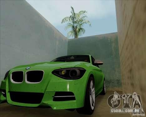 BMW M135i V1.0 2013 para GTA San Andreas vista traseira
