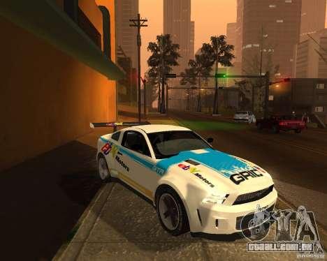 Ford Mustang GT-R 2010 para GTA San Andreas vista traseira
