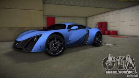 Marussia B2 2010 para GTA Vice City vista traseira