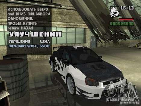 Subaru Impreza Wrx Sti 2002 para GTA San Andreas traseira esquerda vista