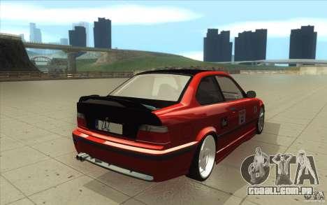 BMW Fan Drift Bolidas para vista lateral GTA San Andreas