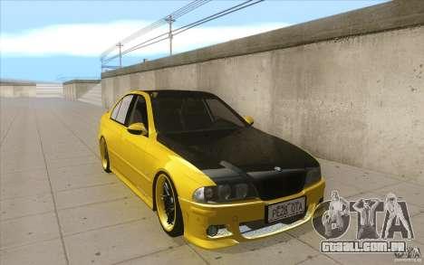 BMW M5 E39 - FnF4 para GTA San Andreas vista traseira