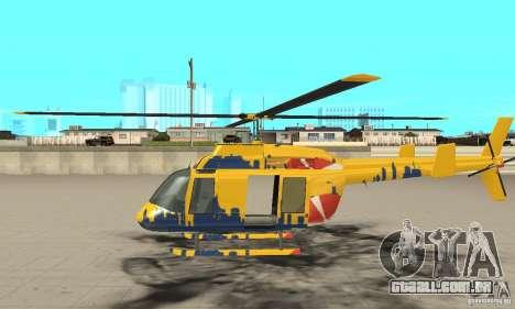O helicóptero de turismo de gta 4 para GTA San Andreas esquerda vista