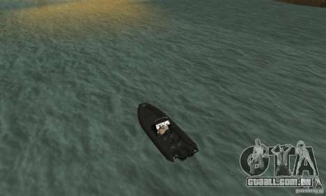 GTAIV Dinghy para GTA San Andreas traseira esquerda vista