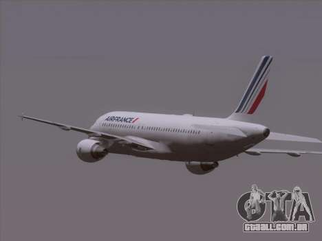 Airbus A320-211 Air France para GTA San Andreas vista superior