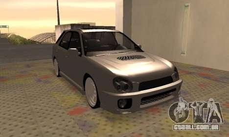 Subaru Impreza WRX Wagon para GTA San Andreas esquerda vista