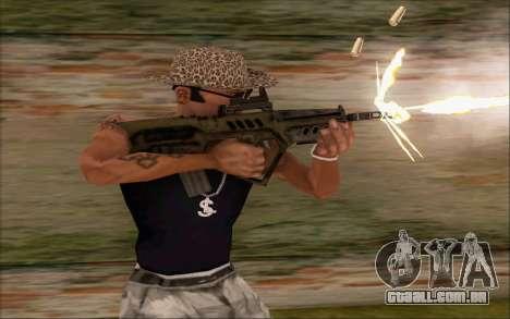 Tavor ctar-21 de WarFace v2 para GTA San Andreas segunda tela