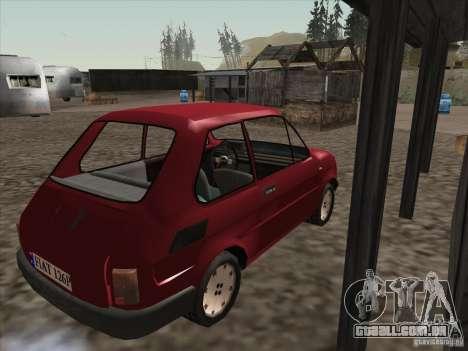 Fiat 126p Elegant para GTA San Andreas vista direita