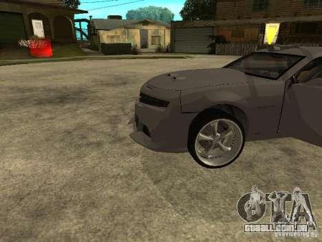 Chevrolet Camaro para GTA San Andreas vista traseira