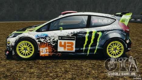 Ford Fiesta RS WRC Gymkhana v1.0 para GTA 4 esquerda vista
