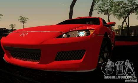 Mazda RX-8 Tuneable para vista lateral GTA San Andreas