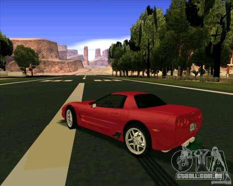 Chevrolet Corvette C5 z06 para GTA San Andreas traseira esquerda vista