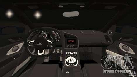 Audi R8 5.2 Stock Final para GTA 4 vista de volta