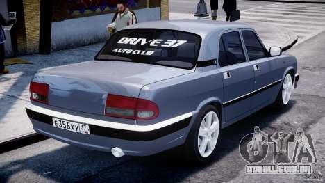 Gaz-3110 Turbo WRX STI v 1.0 para GTA 4 traseira esquerda vista
