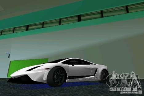 Lamborghini Gallardo LP570 SuperLeggera para GTA Vice City deixou vista