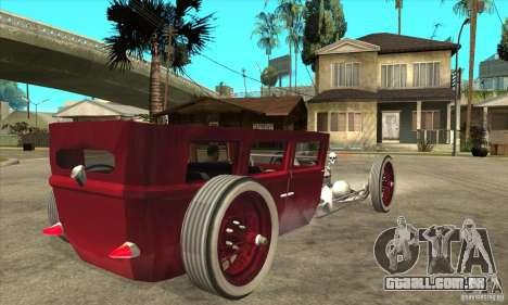 HotRod sedan 1920s no extra para GTA San Andreas vista direita