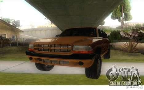 Dodge Durango 1998 para GTA San Andreas traseira esquerda vista