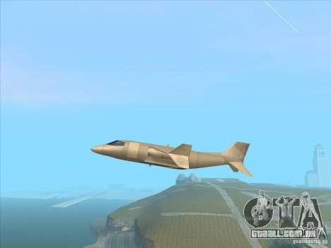 Cargo Shamal para GTA San Andreas esquerda vista