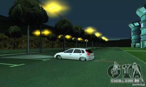 Lada Kalina Hatchback para GTA San Andreas vista direita