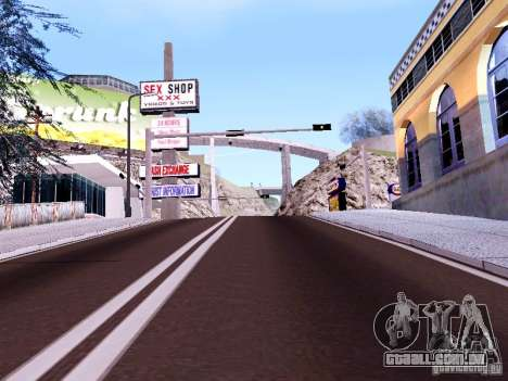 New Roads para GTA San Andreas quinto tela