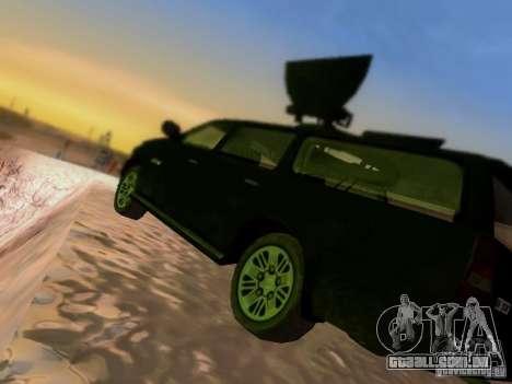 Suv Call Of Duty Modern Warfare 3 para GTA San Andreas vista inferior
