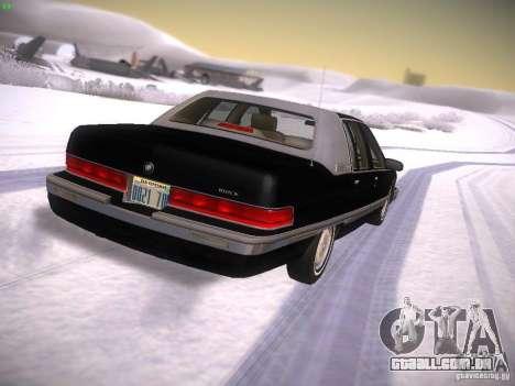 Buick Roadmaster 1996 para GTA San Andreas traseira esquerda vista