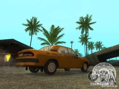 Táxi de GAZ 3110 Volga para GTA San Andreas vista interior
