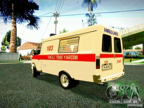 Gazela 2705 BAKU AMBULANS para GTA San Andreas traseira esquerda vista