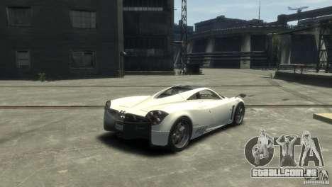 Pagani Huayra para GTA 4 esquerda vista