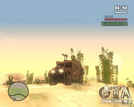 Hummer H1 do COD MW 2 para GTA San Andreas vista traseira