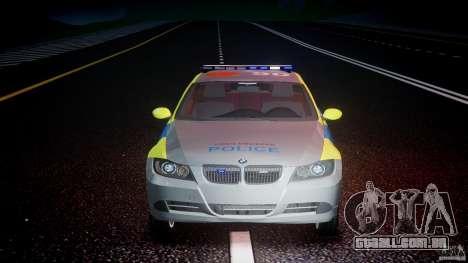 BMW 350i Indonesian Police Car [ELS] para GTA 4 vista inferior