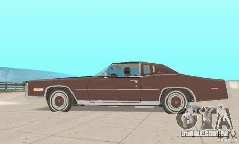 Cadillac Eldorado Biarritz 1978 para GTA San Andreas traseira esquerda vista