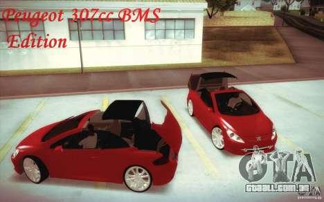 Peugeot 307CC BMS Edition para portáteis para GTA San Andreas