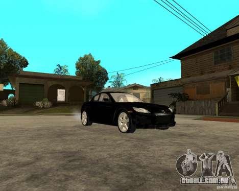 Mazda RX-8 para GTA San Andreas vista traseira