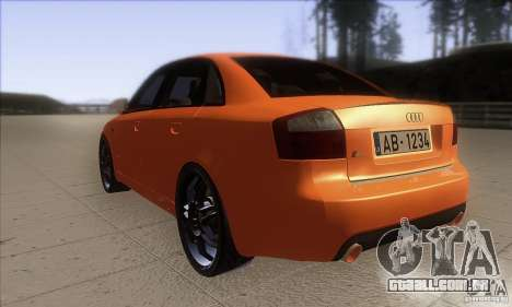 Audi S4 DIM para GTA San Andreas traseira esquerda vista