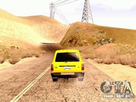 Toyota Land Cruiser 80 Off Road Rims para GTA San Andreas vista direita