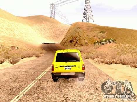 Toyota Land Cruiser 80 Off Road Rims para GTA San Andreas vista direita