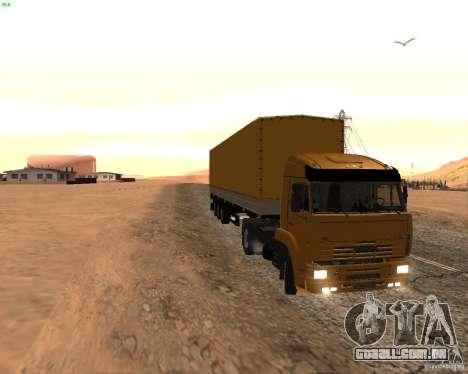 KamAZ 5460 Truckers 2 para GTA San Andreas esquerda vista