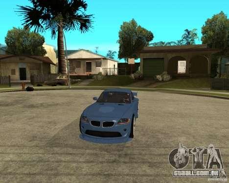 BMW Z4 Supreme Pimp TUNING volume I para GTA San Andreas vista interior