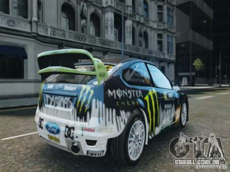 Ford Focus RS WRC para GTA 4 esquerda vista