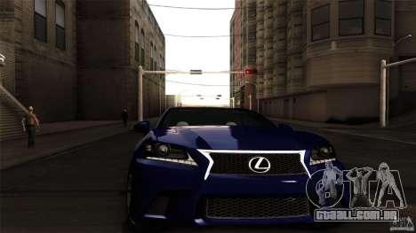 Lexus GS350F Sport 2013 para GTA San Andreas traseira esquerda vista