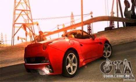 Ferrari California V3 para GTA San Andreas esquerda vista